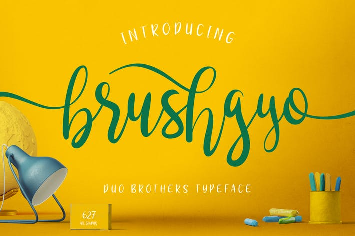 Thumbnail for brushgyo typeface