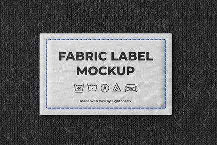 Fabric Label Mock-Up Template