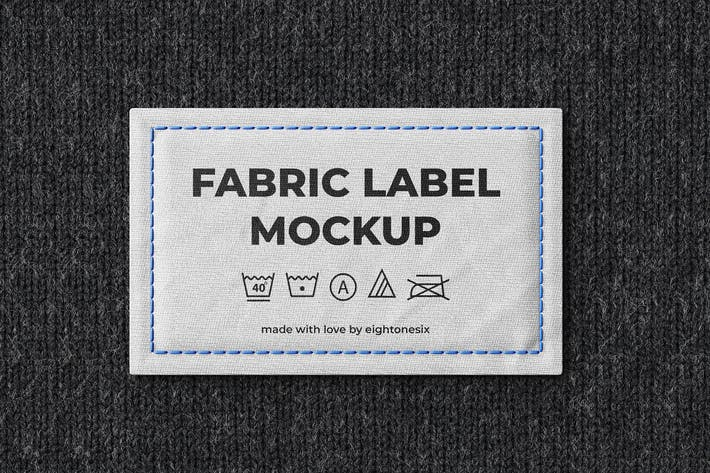 Thumbnail for Fabric Label Mock-Up Template