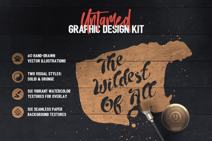 Cover Image For Untamed Graphic Design Kit