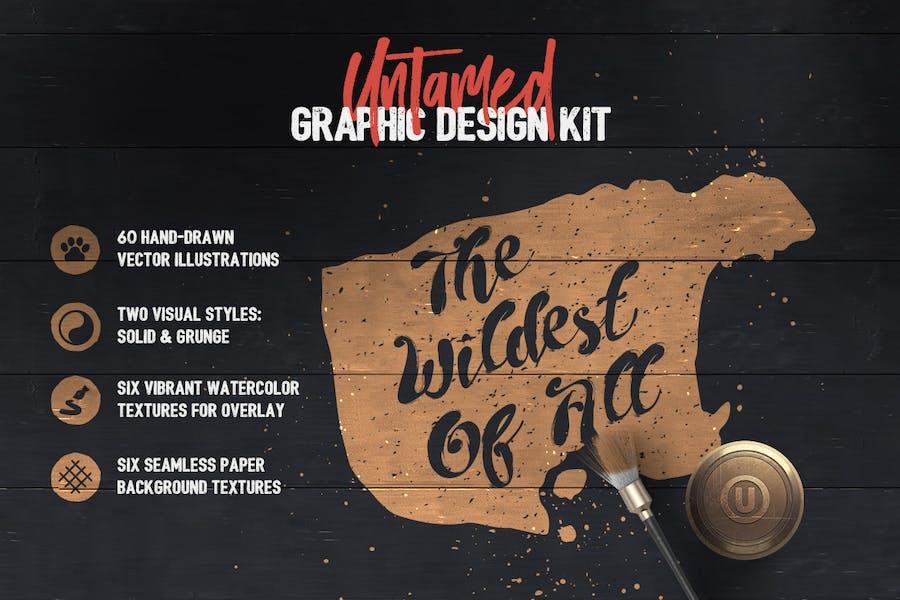 Untamed Graphic Design Kit