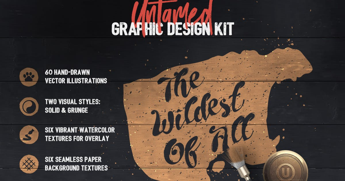 Download Untamed Graphic Design Kit by Veila