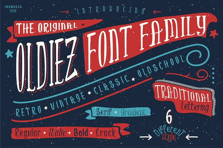 Thumbnail for Oldiez Family Font