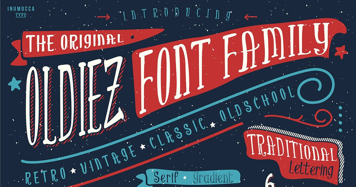 Download Oldiez Family Font by inumocca