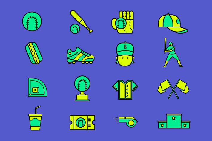 Baseball Field Icons