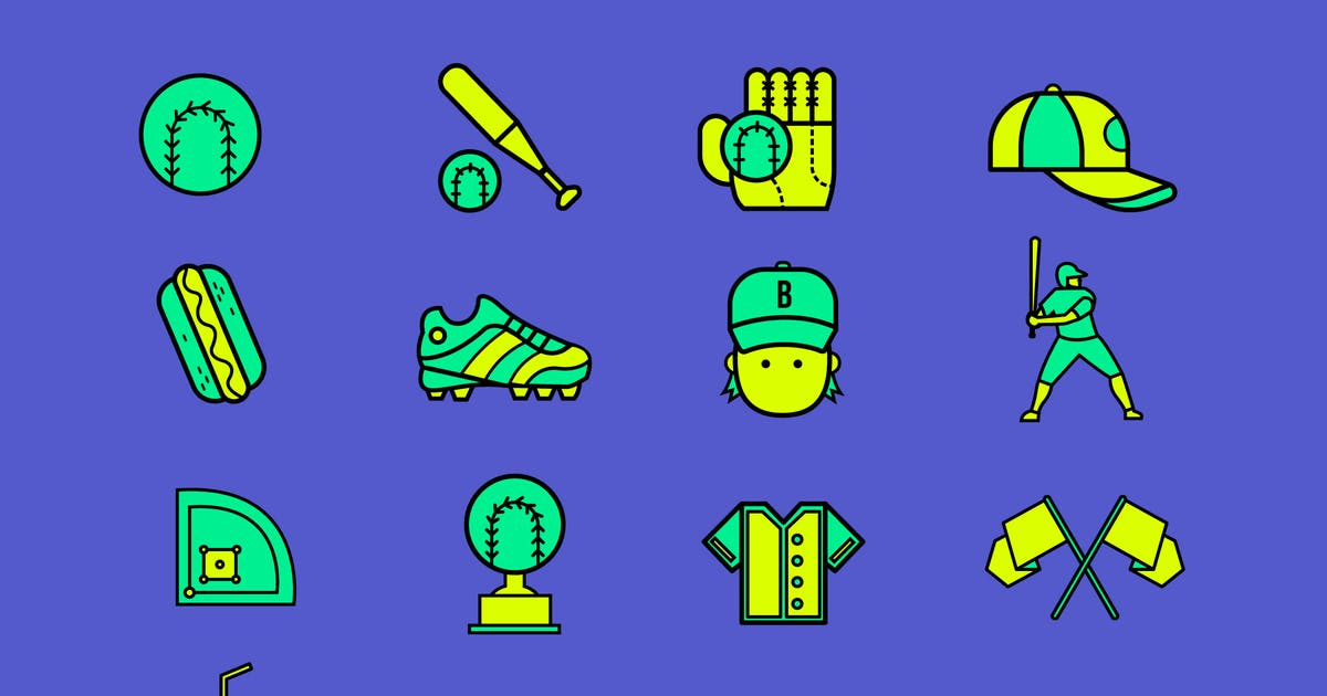 Download Baseball Field Icons by Jumsoft