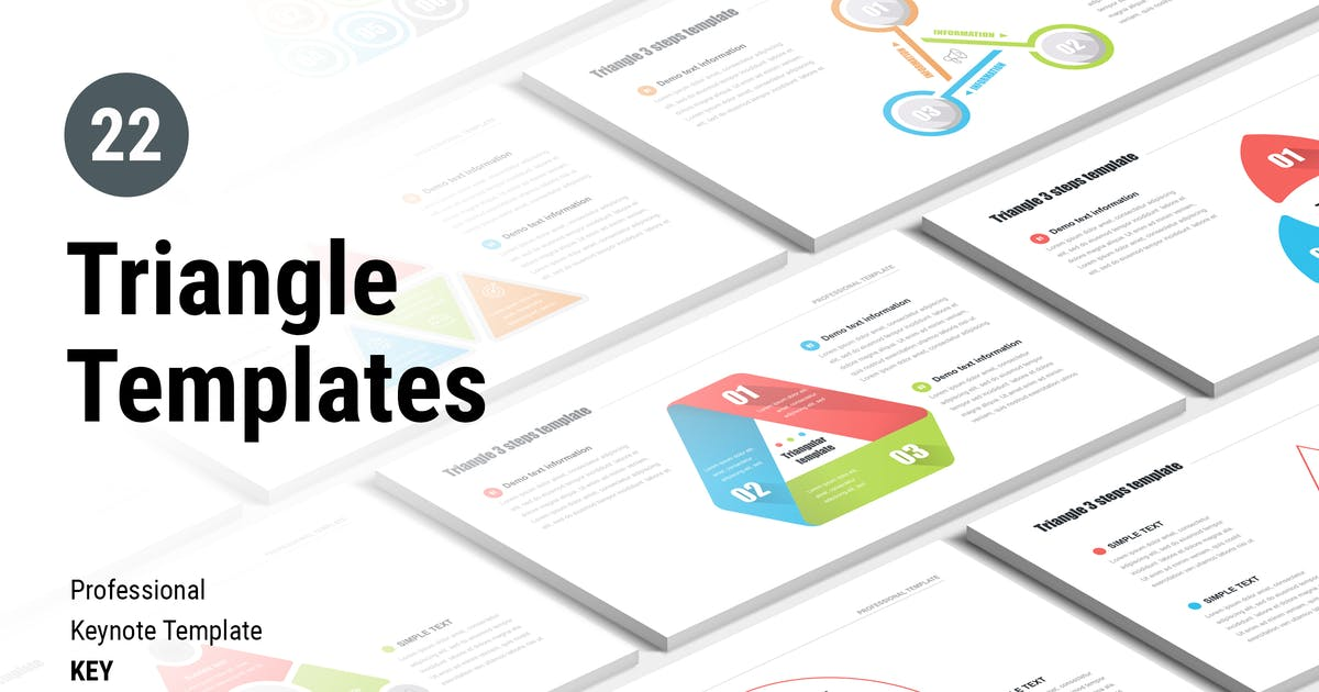 Download Triangle Keynote templates for MAC by Site2max
