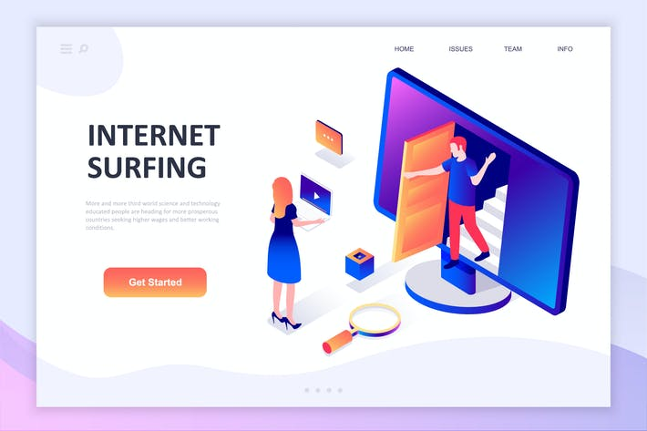 Thumbnail for Internet Surfing Isometric Concept