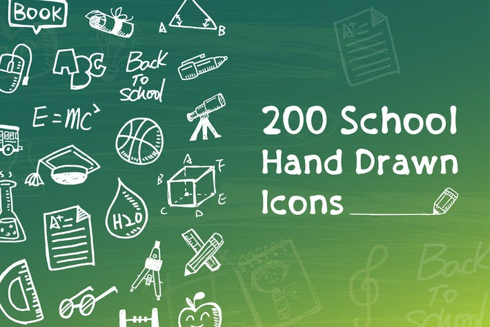 Thumbnail for School and Education Hand Drawn  Icons