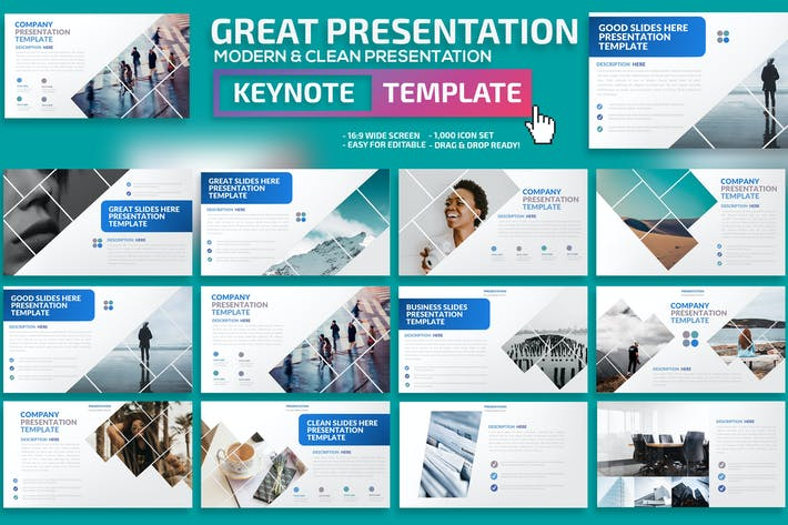 Thumbnail for Great Keynote Presentation Template