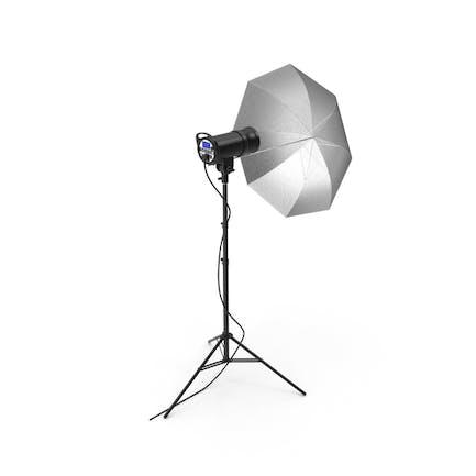 Studio Umbrella And Head On Tripod Stand