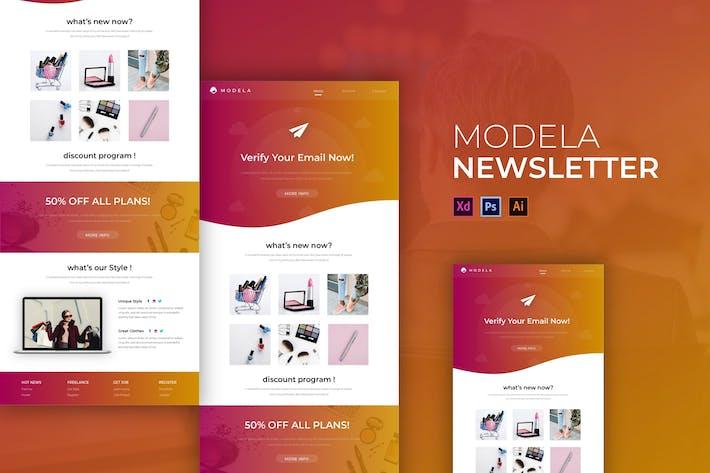 Thumbnail for Modella | Newsletter Template