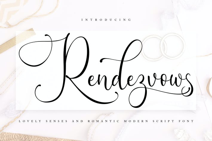 Thumbnail for Rendezvouws   Modern Script Font