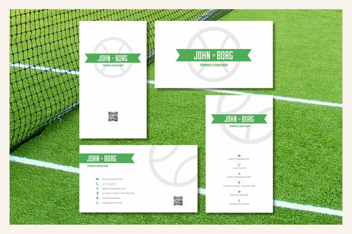 Thumbnail for Sport Business Cards - Tennis