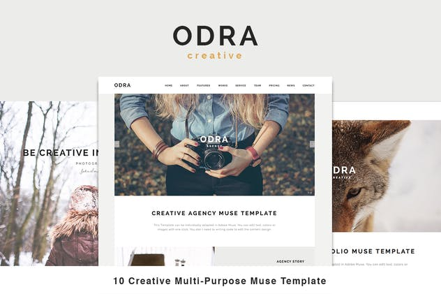 ODRA - 10 Creative Muse Templates Multi-Purpose - product preview 3