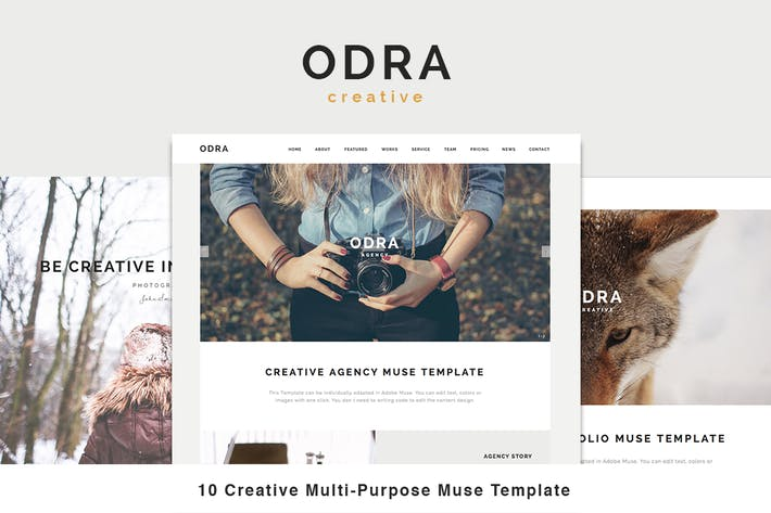 Thumbnail for ODRA - 10 Creative Muse Templates Multi-Purpose