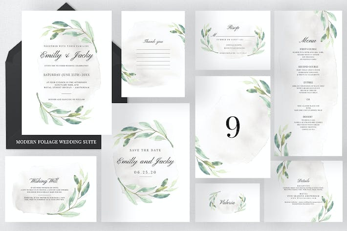 Thumbnail for Modern Foliage Wedding Suite