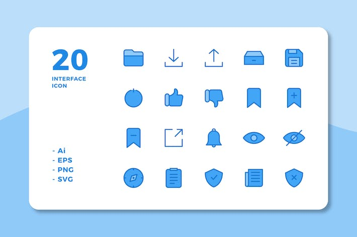 Thumbnail for 20 Interface Icons Vol.3 (Lineal Color)