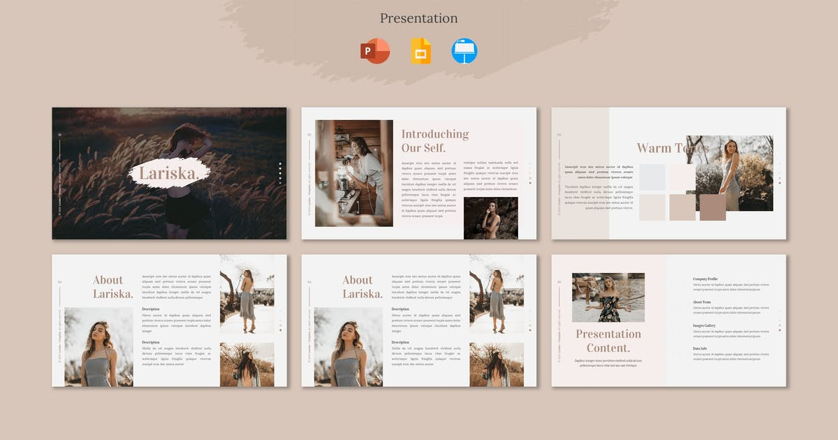 Download Lariska - Presentation Template by Fannanstudio