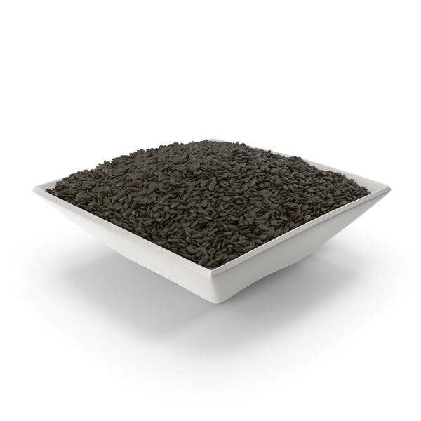 Square Bowl with Black Sesame Seeds