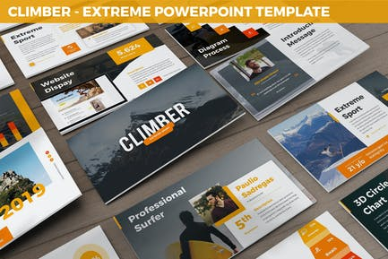 Climber - Extreme Powerpoint Template
