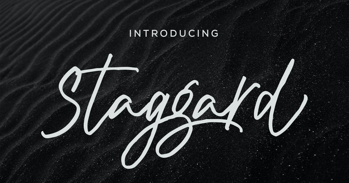 Download Staggard Rough Signature by aqrstudio