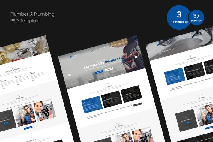 Thumbnail for Plumber PSD Template