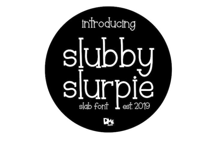 Slubby Slurpie - Fuente de losa elegante