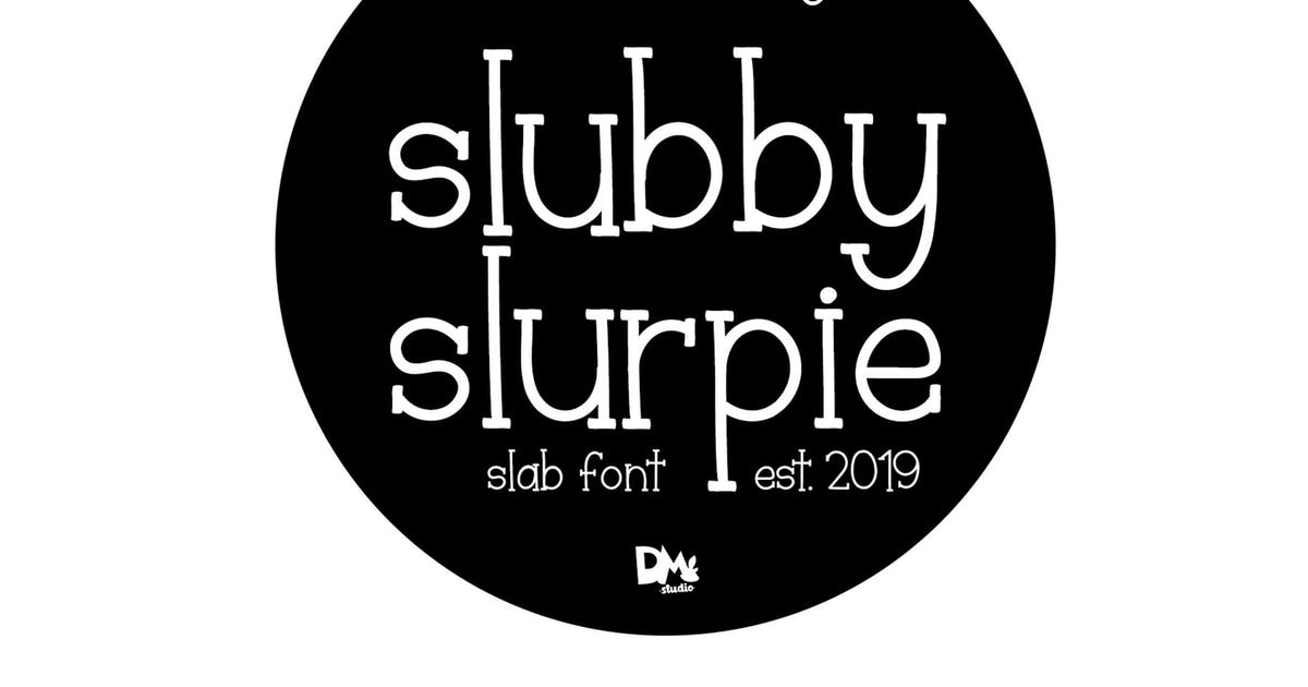 Download Slubby Slurpie - Stylish Slab Font by DmLetter