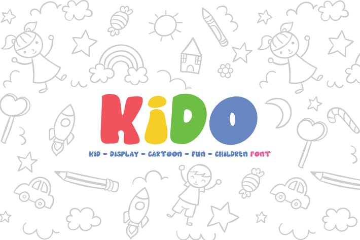 Kido - Fun Children Display Font