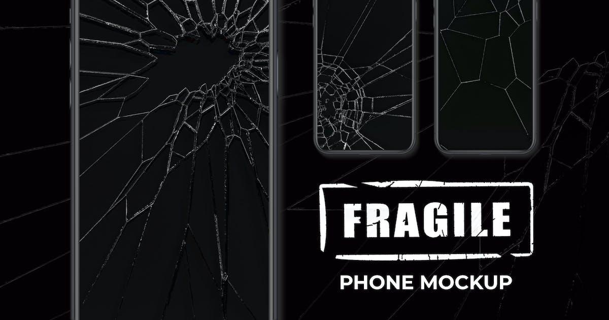 Download Fragile Phone Mockup by sagesmask