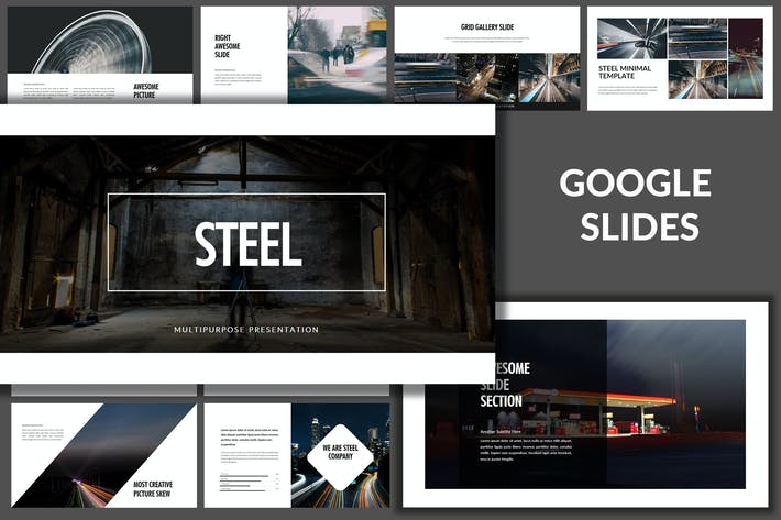 Thumbnail for Steel - Business Google Slides