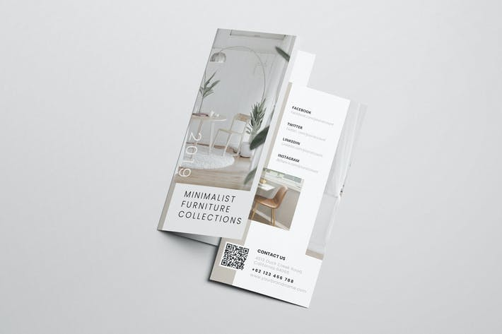 Thumbnail for Interior Design AI and PSD Trifold Brochure