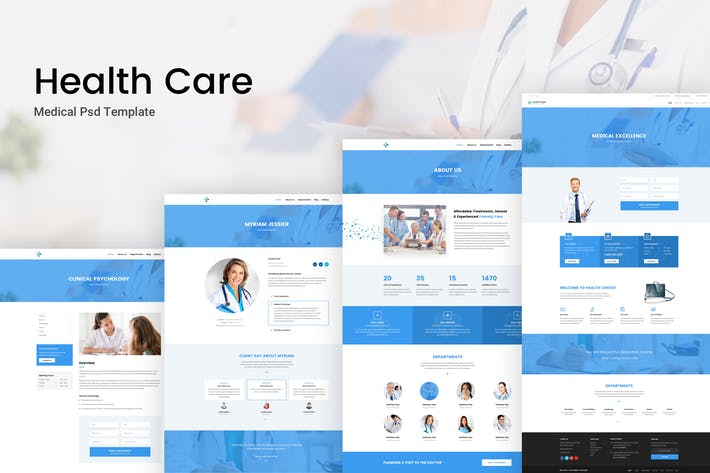 Cover Image For Health Care - Medical & Dental Psd Template