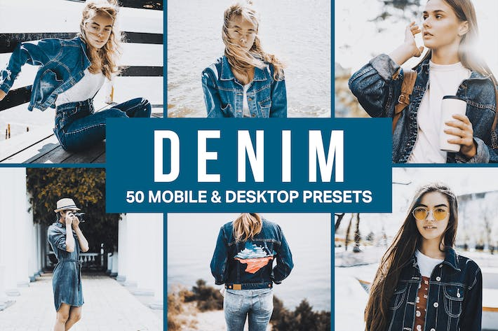 Thumbnail for 50 presets y LUTs de Moda Denim Lightroom