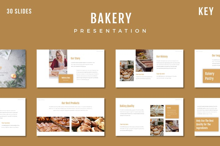Thumbnail for Bakery Presentation Template - (KEY)