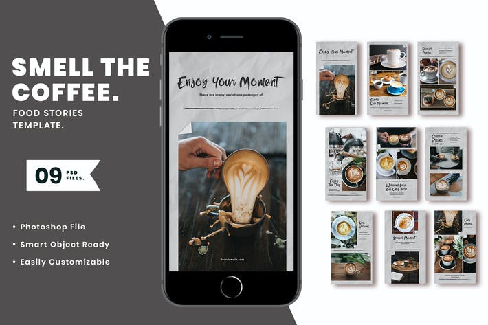 Thumbnail for Smell the coffee Instagram Template