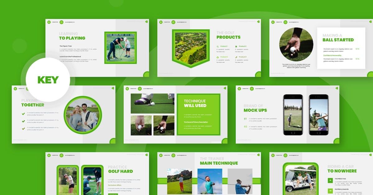 Download Golfine - Keynote Template by karkunstudio