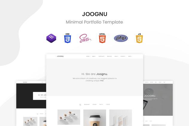 Joognu - Minimal Portfolio Template
