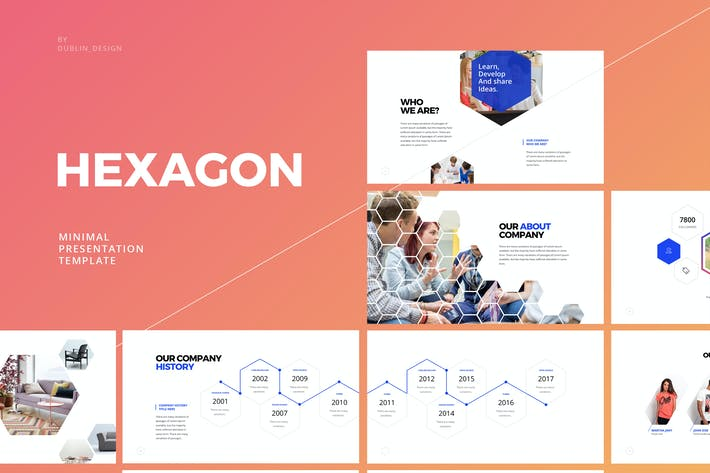 Thumbnail for Hexagon - Keynote Template