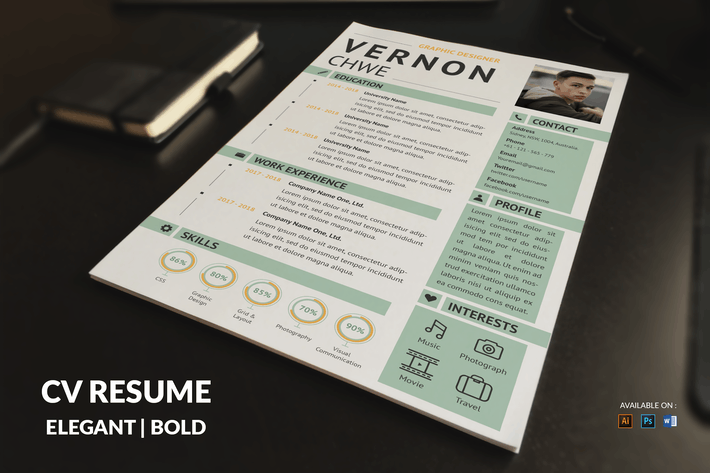 Thumbnail for CV Resume Modern And Professional