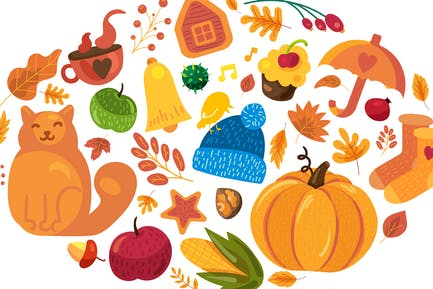 Banner de otoño acogedora