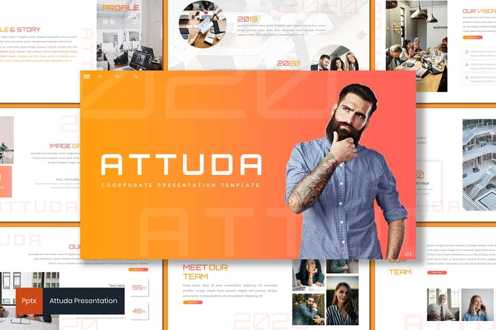 Thumbnail for Attuda - Business Powerpoint Template