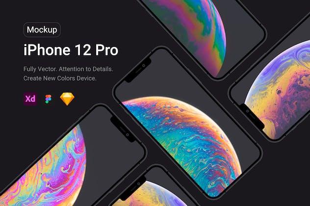 iPhone 12 Pro Black Mockup