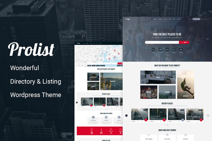 Cover Image For Prolist - Directory & Listing WordPress Theme
