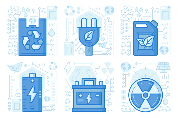 Battery Charge UI UX Illustrations