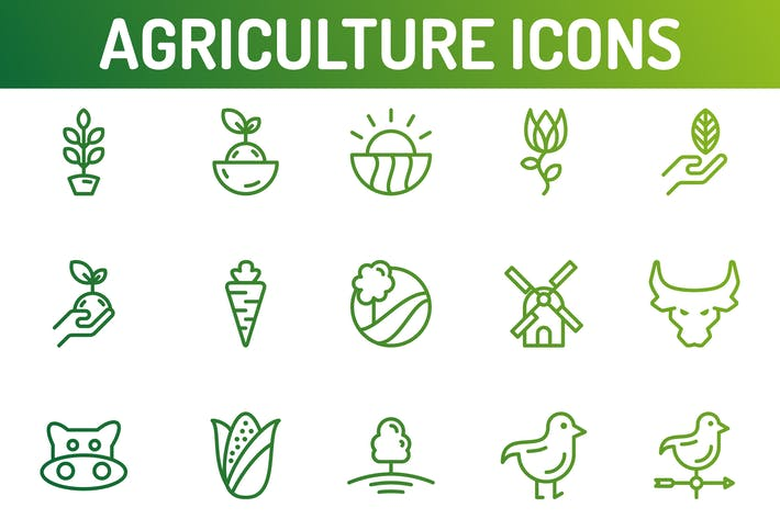 Thumbnail for Agriculture and Nature Icons