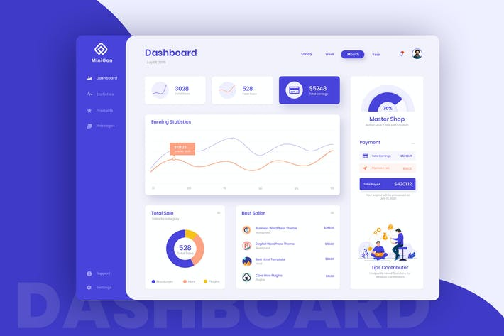 Thumbnail for Shop Contributor Dashboard UI Kit