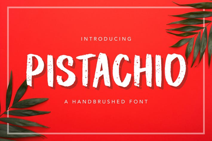 Thumbnail for Pistachio Handbrushed Font