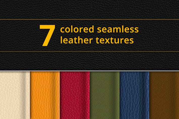 Thumbnail for Set of 7 seamless leather textures